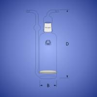 בקבוק שטיפת גזים עם סינטר