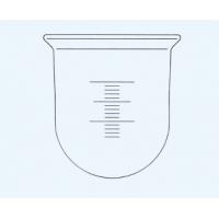 ריאקטור צילינדרי מכויל עם תחתית עגולה