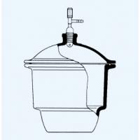 דסיקטור זכוכית עם ברז