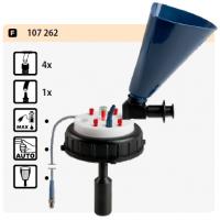 פקק עם 4 יציאות + 1 רחבה + בקרת מילוי אלקטרונית + משפך סגירה אוטומטית
