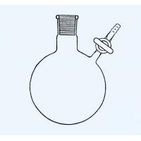 קולבה ניטרוגן shlenk עם ברז זכוכית ישר